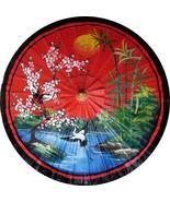 "35"" Diameter Asian Spring in Red Fashion Umbrellas - $35.00"