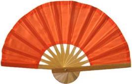 Orange Bamboo Hand Fan Asian Hand Fans - $1.95