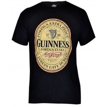 Guinness Stout Distressed Label Beer T Shirt - $22.99