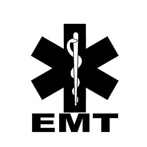 "Primary image for EMT STAR OF LIFE V1- size: 5"", color: BLACK - Windows, Walls, Bumpers, Laptop, L"