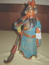 "Chinese Ceramic Kwan Kung Warrior Statue Figure 12""h - $74.25"