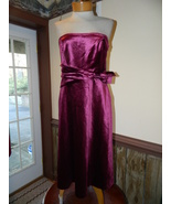 Liz Claiborne size 8 Fushia Strapless Cocktail Evening Party Cruise dress  - $29.99