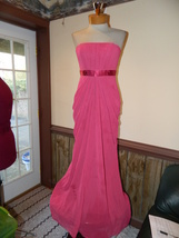 David's Bridal size 2 Pink Strapless Formal Prom Pageant Cruise Bridesma... - $39.99