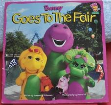 Barney the Purple Dinosaur - Barney Goes to the Fair Book  - $1.50