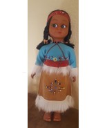 Vintage Plastic Native American Indian Doll with Baby Babies on back pre... - $14.92