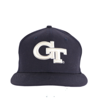 New Era Georgia Tech University Stitched Fitted Hat Cap Navy Blue Wool 6 7/8 - $24.70
