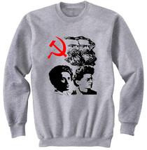 COMMUNISM FATHERS - NEW COTTON GREY SWEATSHIRT- S-M-L-XL-XXL - $34.98