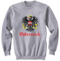 Austria Coat Of Arms  New Cotton Grey Sweatshirt  S M L Xl Xxl - $47.50