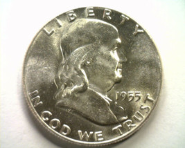 1955 FRANKLIN HALF DOLLAR CHOICE UNCIRCULATED CH. UNC. NICE ORIGINAL COIN - $29.00