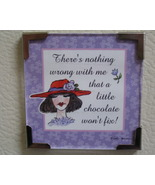 Linda Grayson gift magnet Red hat lady chocolate fix new - $4.00