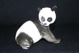 Lomonosov LFZ Porcelain Figurine Panda Bear Cub Russia Russian USSR - $24.99