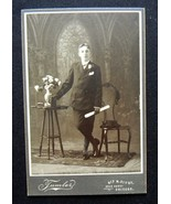 Young Boy w Diploma Cabinet Card Photograph nea... - $6.99