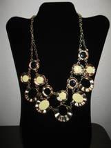 Stylish Large Chunky Bib Black & Cream Round Stone Necklace New & Hot! #... - $15.99