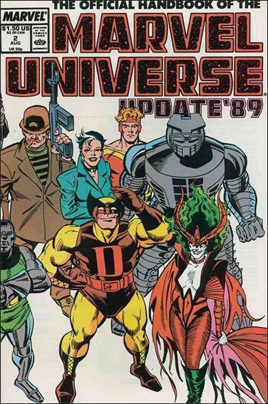 Marvel THE OFFICIAL HANDBOOK OF THE MARVEL UNIVERSE (1989 Series) #2 VF