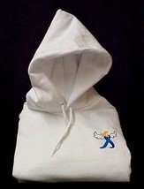Blue Ribbon Angel Hoodie Sweatshirt Embroidered Awareness Cottton Blend S New - $30.97
