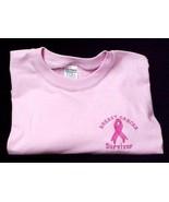 Breast Cancer Awareness Pink Ribbon Survivor Pink Short Sleeve T Shirt  ... - $19.57