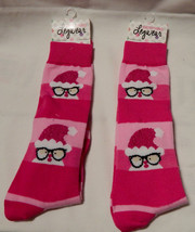 Christmas Everything Legwear Novelty Socks Girls Size 9 to 3 2pr Pink Sa... - $7.49