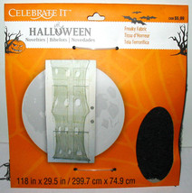 Halloween Freaky Fabric Spider Web Stuff Celebrate It Big as your front ... - $3.95