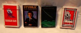 Vintage Playing Cards 4 Decks Sealed New Stupak Harolds Club Cathay Paci... - $9.49