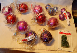 Celebrate It Ornaments Christmas Glitter Design Mix Lot 15ea Big Sm Wit... - $9.86