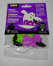 Halloween Foam Stickers Kit 36pc Makes 6ea By Creatology 4+ Ghosts Bats ... - $4.94