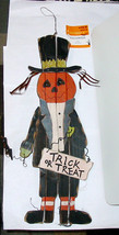 """Halloween Wood Scarecrow By Celebrate It 16"""" Tall x 6"""" Wide Harvest Hang... - $7.88"""