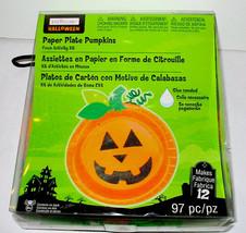 "Halloween Paper Plates Pumpkins Kit 97pc Creatology 6+Makes 12Items 7"" P... - $5.91"