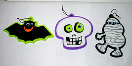 "Halloween Foam Ornaments 3ea By Creatology 3+ Mummy Skull Bat 4"" x 4"" 40N - $7.91"