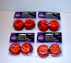"Cupcake Liners Wilton 400 Total 4pks 100ea 2"" x1 1/4"" Deep Paper Pumpkin... - $5.91"