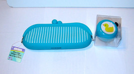 Creatology Silicone Clutch Bag & Metal Bike Bell by Michaels Aqua Color ... - $5.89