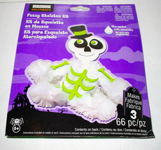 Halloween Fuzzy Skeleton  Kit 66pc By Creatology 6+ 42A - $5.92