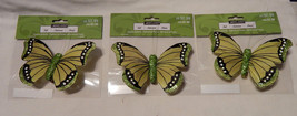 "Ashland Feather & Glitter Butterflies 4 1/2"" x  3"" With Clip On 3ea 18W - $5.90"