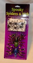 Halloween Spooky Spiders & Web Tarantulas 10 Spiders With the Web Glow U... - $4.92
