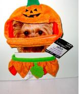Halloween Pumpkin Hat & Ruffled Collar Celebrate It XS small Dog 2 to 6 ... - $4.91