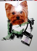 Halloween Ruffled Collar Green Celebrate It Spiders XS small Dog 2 to 6 lbs 44X - $4.92