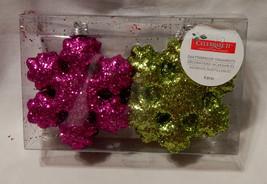 "Celebrate It Shatterproof Ornaments 4"" x 4"" Heavy Duty Glitter Covered 22A - $4.90"