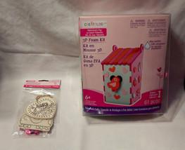 Creatology Valentine's Day 3D Foam Kit Bird House & Wood Ornament Heart ... - $9.89