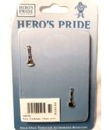 "Lt. Fire Dept. Bugles Collar Pin Device Set Rank 3/4"" Single Bugle Nicke... - $15.49"