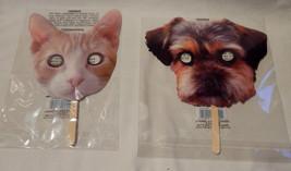 Halloween Creatology Mix Lot Face on a Stick Masks Cat & Dog 38E - $3.93