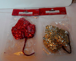 "Ashland Christmas Glitter Leaves 2Pks 4"" x 4"" 10 Total Red & Silver Mich... - $5.89"