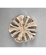 Nickel Fire Chief Collar Device Pin Tac 2 Piece Set Silver 5 Crossed Bug... - $15.49