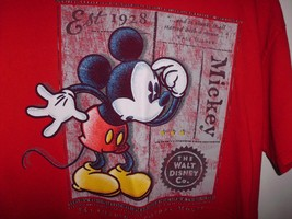 """Mickey Mouse T Shirt 41"""" Chest Disney Shopping Red Graphic Tee Walt Disney - $10.88"""