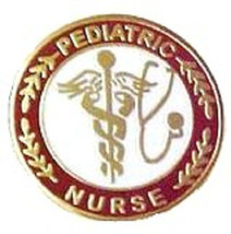 Pediatric Nurse Professional Medical Lapel Pin with Stethoscope Caduceus... - $12.71