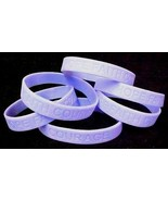 Periwinkle Awareness IMPERFECT Bracelets 6 Pc Lot Cancer Silicone Wristb... - $6.97