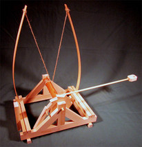Working Model da Vinci Spring Catapult Plans an... - $13.95