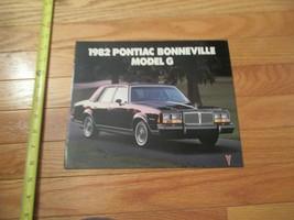 1982 Pontiac Bonneville Model G Car auto Dealer showroom Sales Brochure - $9.99