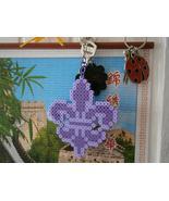 Purpler Fleur de lis perler key chain accessory - $9.99