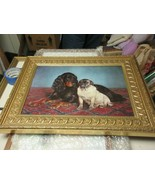 "Cocker Spaniel , Artist Painting , 25""X19"" , Vintage , Cleo Backey (?) ,... - $125.00"
