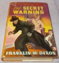 The Hardy Boys Book The Secret Warning 17 HC DJ 1938 1st Edition Laune - $300.00