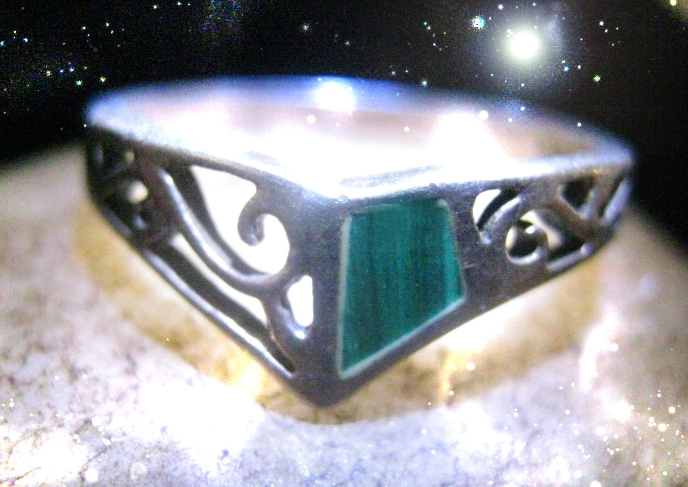 Primary image for HAUNTED ANTIQUE RING ALEXANDRIA'S OWN HECATE BRINGS ABUNDANCE POWER  OOAK MAGICK